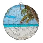 Playa tropical del paraíso tablero dardos
