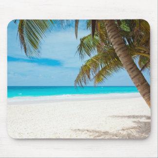 Playa tropical del paraíso alfombrilla de raton