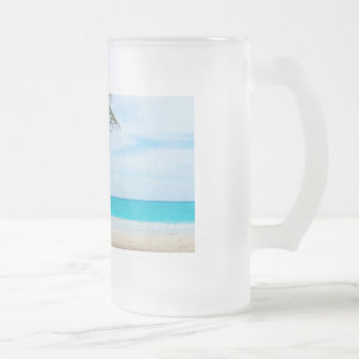 Playa tropical del paraíso taza cristal mate