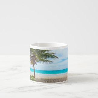 Playa tropical del paraíso taza espresso