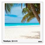 Playa tropical del paraíso vinilo adhesivo