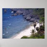 Playa tropical en una isla aislada posters