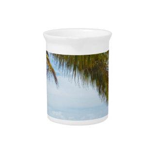 Playa tropical jarras para bebida