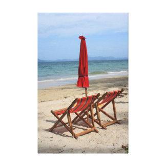 Playa tropical lona estirada galerías