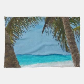 Playa tropical toalla
