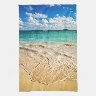Playa tropical toallas