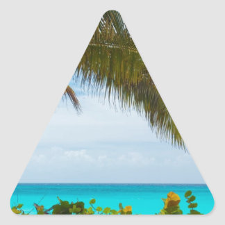 Playa tropical calcomania triangulo