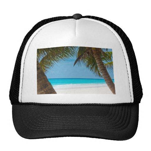 Playa tropical perfecta del paraíso gorras de camionero
