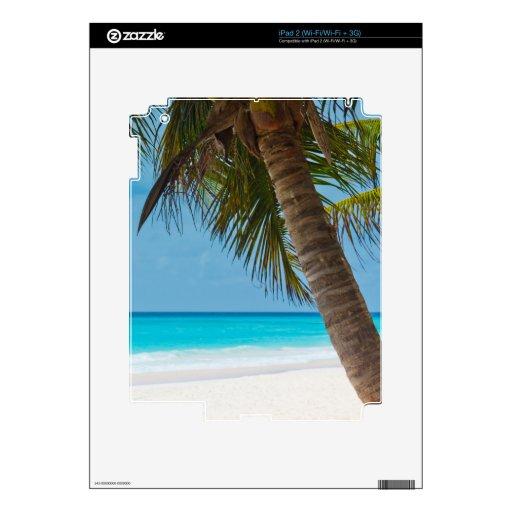 Playa tropical perfecta del paraíso calcomanía para el iPad 2