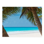 Playa tropical perfecta del paraíso tarjeta postal