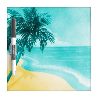 Playa tropical pizarras blancas de calidad