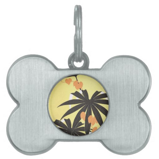 Playa tropical placa mascota