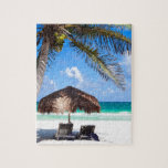 Playa tropical rompecabeza con fotos