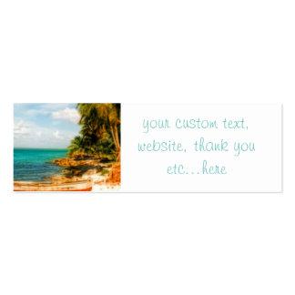 Playa tropical soñadora tarjetas de visita mini