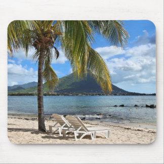 Playa tropical tapete de ratón