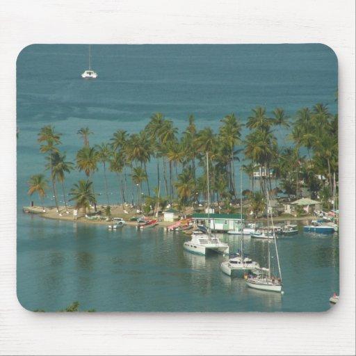 Playa tropical tapete de raton