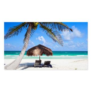 Playa tropical tarjetas de negocios