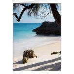 Playa tropical tarjeta de felicitación