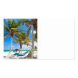 Playa tropical tarjeta de visita
