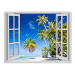 Playa tropical tarjetas postales