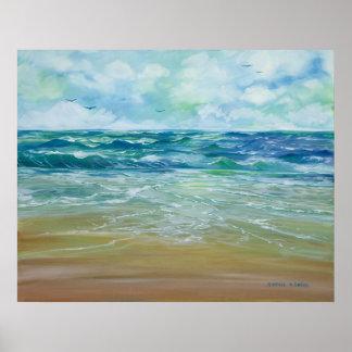 Playa ventosa póster