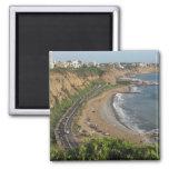 Playa verde de la costa en Lima-Perú Iman De Nevera