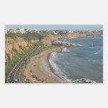 Playa verde de la costa en Lima-Perú Rectangular Altavoz