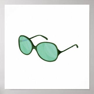 playa verde wear.png de las gafas de sol póster