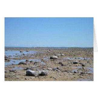 Playa vieja del faro de la misión tarjeta pequeña