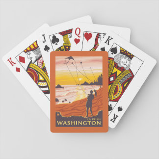 Playa y cometas - empuje del La, Washington Cartas De Juego