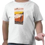 Playa y cometas - empuje del La, Washington Camiseta