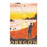 Playa y cometas - Florencia, Oregon Impresiones En Lienzo Estiradas