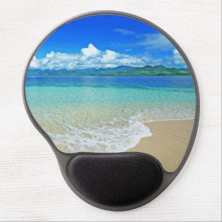 Playa y mar alfombrilla gel