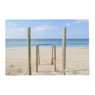 Playa y mar salvamanteles