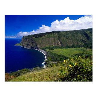 Playa y montañas hermosas de Hawaii Postal
