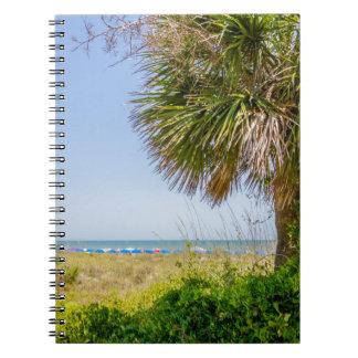 """playa y océano """"playa del sur """" de Hilton Head Libro De Apuntes"""
