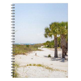 """playa y océano """"playa del sur """" de Hilton Head Libro De Apuntes Con Espiral"""