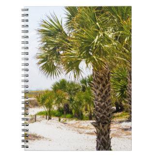 """playa y océano """"playa del sur """" de Hilton Head Spiral Notebooks"""