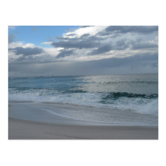 Playa y ondas - bahía de los fuegos Tasmania Tarjeta Postal
