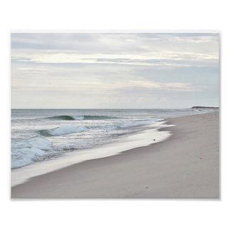 Playa y ondas del océano fotografía
