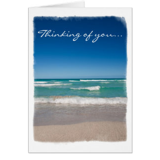 Playa y ondas - tarjeta de felicitación