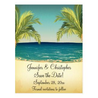 Playa y palmeras del verano que casan reserva la f postal