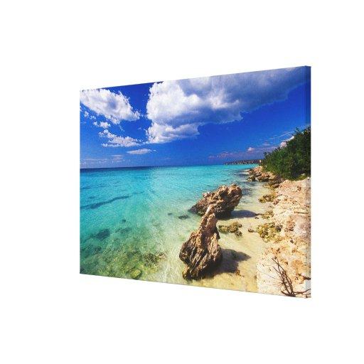 Playas, Barahona, República Dominicana, 2 Impresiones En Lona Estiradas