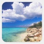 Playas, Barahona, República Dominicana, 2 Pegatina Cuadrada