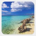 Playas, Barahona, República Dominicana, 3 Pegatina Cuadrada