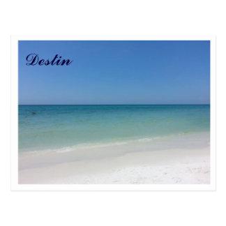 Playas blancas de Destin FL y agua azul del claro Tarjeta Postal