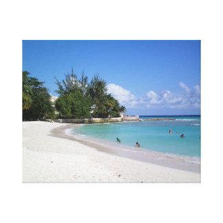 Playas de Barbados Impresión En Lienzo