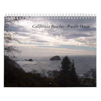 Playas de California--Océano Pacífico cualquier Calendario De Pared