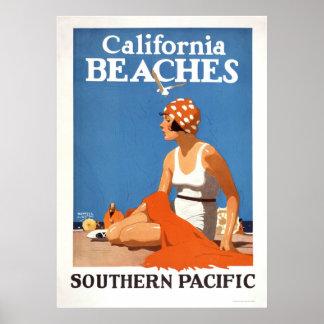 Playas de California Posters