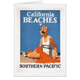 Playas de California Tarjeta De Felicitación